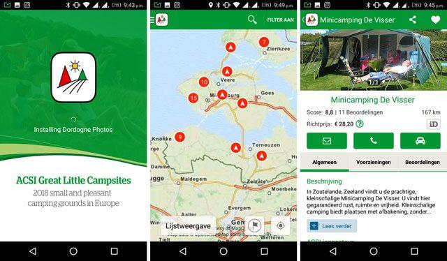 Campinggidsen Kampeerspullen  Een campinggids app is dat handig? Mijn ervaringen