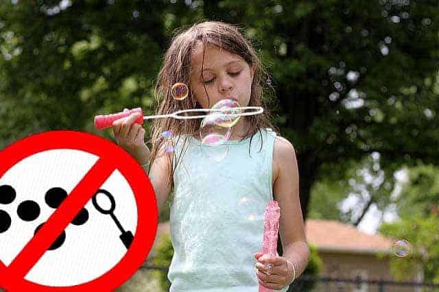 Bellenblaas vanaf nu verboden op campings in Europa!