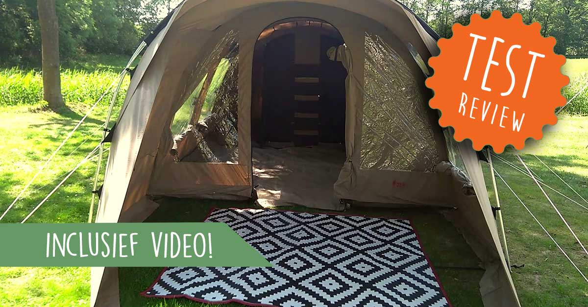 Review: Tunneltent Redwood Birch 4 TC, een stevige gezinstent