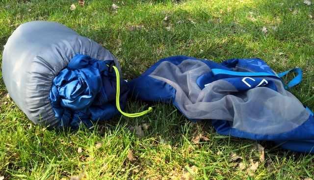 Kampeerspullen Slapen op de camping  Review: Exped Mega Sleep duo 2 persoons slaapzak met verrassend veel mogelijkheden