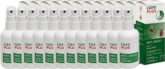 12 x Care Plus DEET spray 40% anti-muggenmiddel 60ml