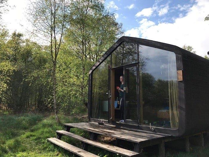 Slapen in een Cabiner, overnachten in een Tiny House in de Nederlandse wildernis