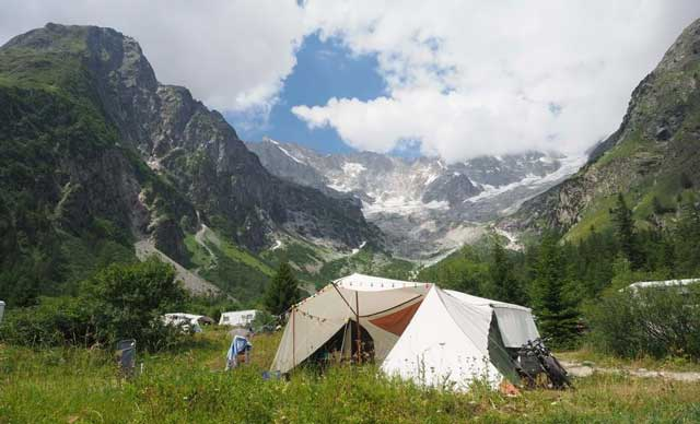camping glaciers zwitserland