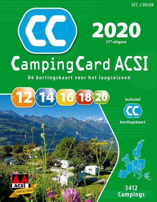 ACSI Campinggids - CampingCard ACSI 2020 Nederlandstalig - set 2 delen