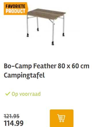 aanbieding camping tafel