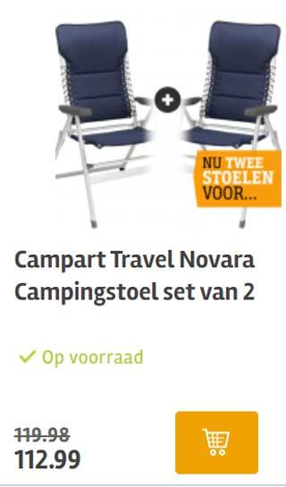 campingstoel aanbieding