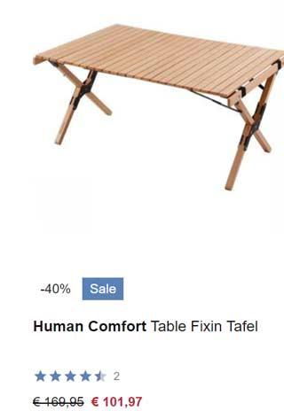 human comfort tafel korting