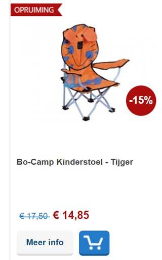 kinder campingstoel aanbieding