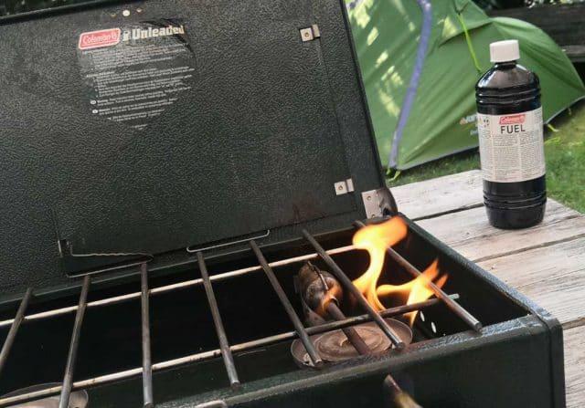 coleman stove 2 pits