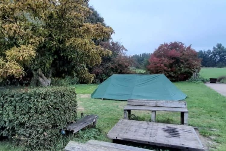 Tent op camping de Puthorst 2