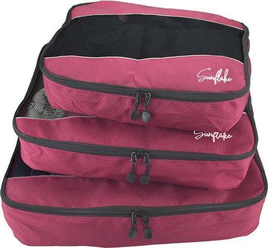 Packing Cubes Set - 3 Stuks - Koffer Organiser Voor Backpack & Koffer & Handbagage - Bagage Organizer - Travel - Roze
