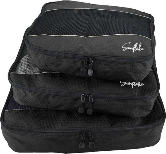 Packing Cubes Set - 3 Stuks - Koffer Organiser Voor Backpack & Koffer & Handbagage - Travel - Zwart