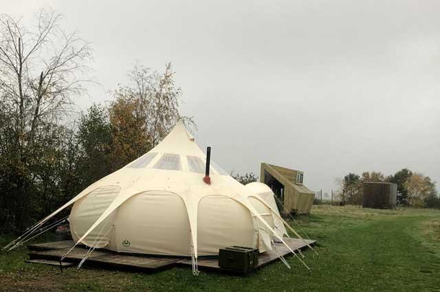 pompoen tent glamping