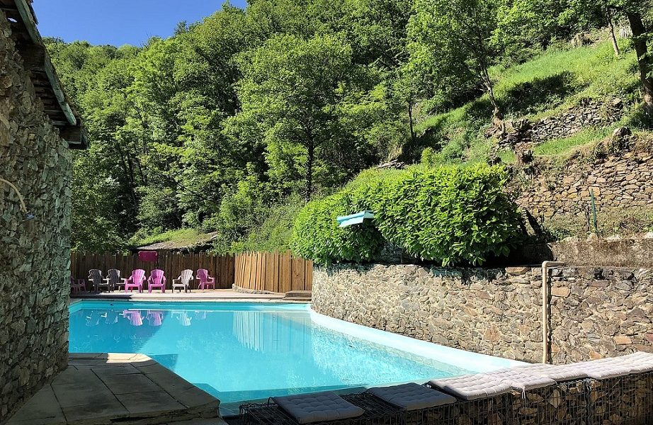 camping Moulin de Chaules zwembad