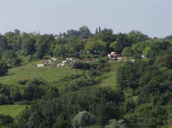 uitzicht op camping Esperbasque