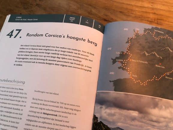 In het boek staan ook twee routes op Corsica
