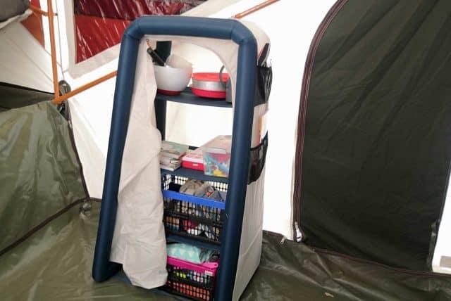 opblaasbare campingkast decathlon quechua