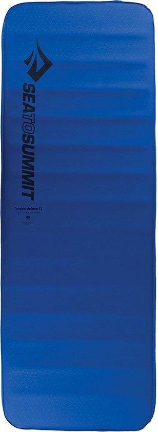 Sea to Summit - Comfort Deluxe S.I. Large Wide - Zelf opbaasbare slaapmat - 10cm - 2410g - Blauw