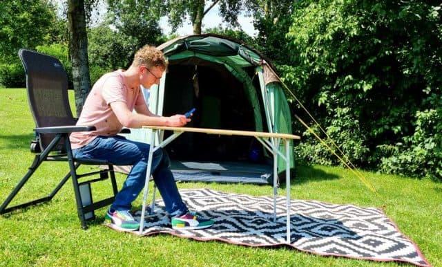 campingtafel bamboe